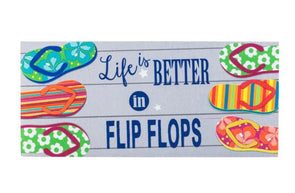 Life Is Better In Flip Flops Sassafras Switch Mat