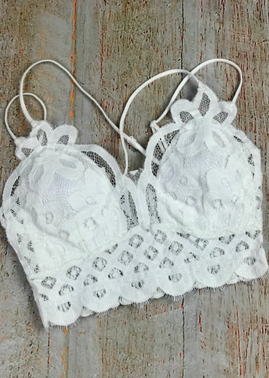 Hello Lovely Bralette - Ivory