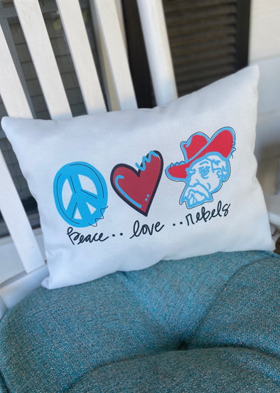 Peace Love Rebels Pillow