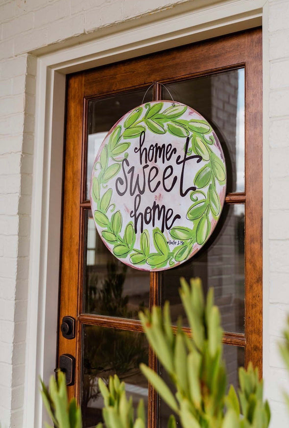 Baxter & Me Door Hanger - Home Sweet Home (Pre-Order/PICKUP ONLY) - Monograms By Kim Boutique & Gifts