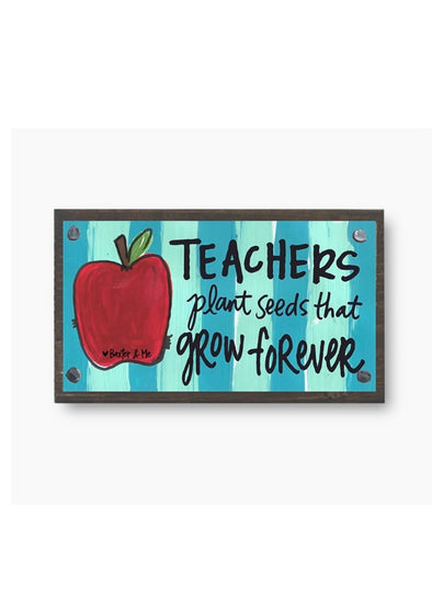 Teachers Plant Seeds Happy Block