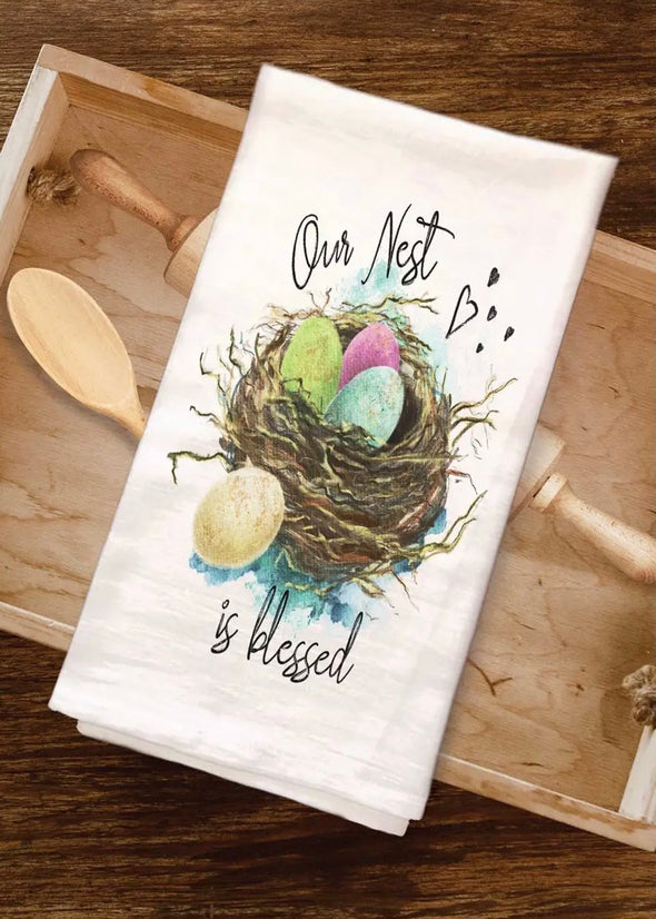 Our Nest Is Blessed Tea Towel