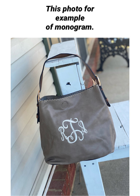 Monogrammed Alexa 2-in-1 Hobo Bag - Bronze
