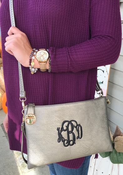 Monogrammed Sidelock Purse - Monograms By Kim Boutique & Gifts