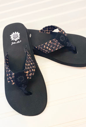 Yellowbox Flip Flops-Black Leopard - Monograms By Kim Boutique & Gifts