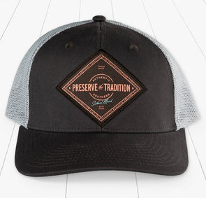 Southern Marsh Trucker Hat - Southern Tradition - Midnight Gray