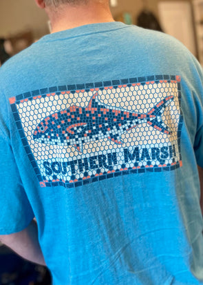 Southern Marsh Tile Fish Tee-Wash Barbados Blue