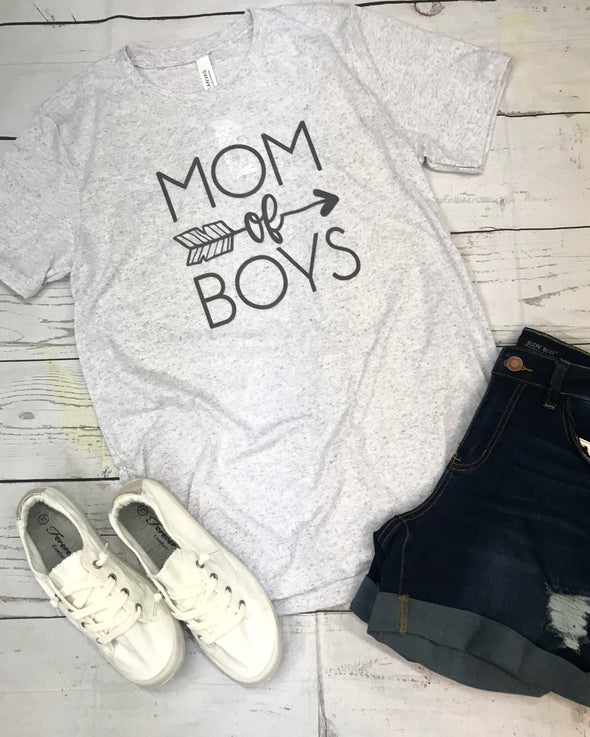 Mom of Boys Graphic Tee - Monograms By Kim Boutique & Gifts