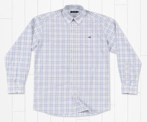 Southern Marsh Charlotte Windowpane Dress Shirt - Slate/Gray