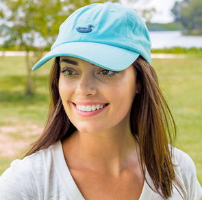 Southern Marsh Washed Hat - Antigua Blue Hat With Slate Duck