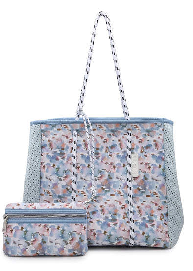 Multifunctional Neoprene Tote - Watercolor Floral