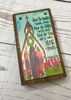 He Walks With Me Happy Block - Monograms By Kim Boutique & Gifts