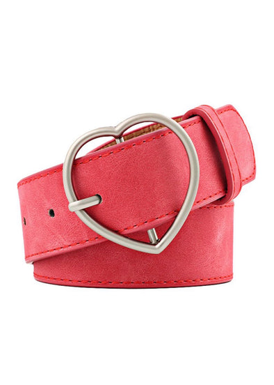 Heart Buckle Belt - Red - Monograms By Kim Boutique & Gifts