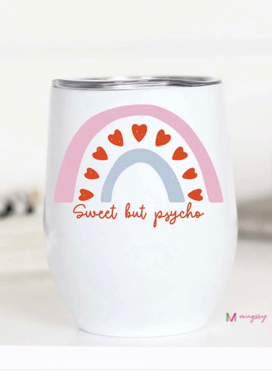 Sweet But Psycho Valentine's Wine Cup