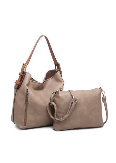 Monogrammed Alexa 2-in-1 Hobo Bag - Clay