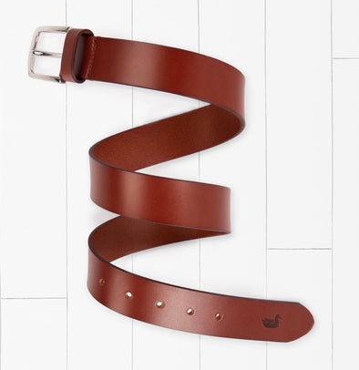 Southern Marsh Stamped Leather Belt-Stone Brown