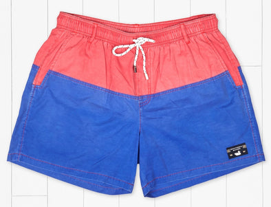SEAWASH™ Color Block Swim Trunk-Pink & Royal Blue