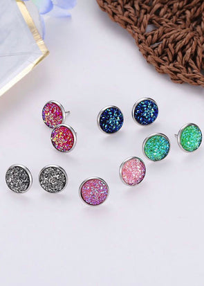 Druzy Stud Earrings - Monograms By Kim Boutique & Gifts