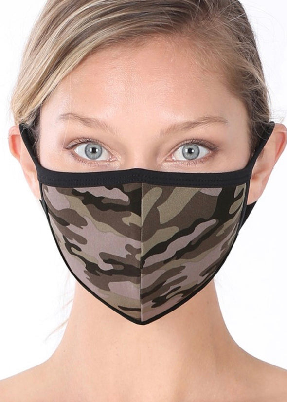 Washable Face Mask - Army Camo