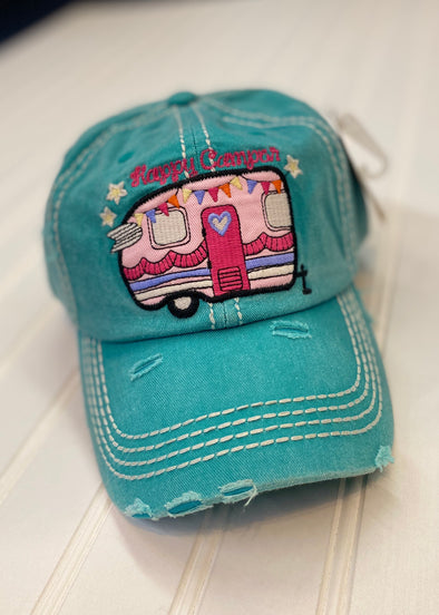 Happy Camper Cap - Monograms By Kim Boutique & Gifts