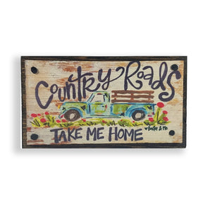 Country Roads Happy Block - Monograms By Kim Boutique & Gifts