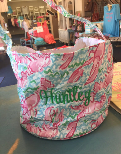 Monogrammed Lilly Pulitzer Print Easter Basket--Lobstah Roll