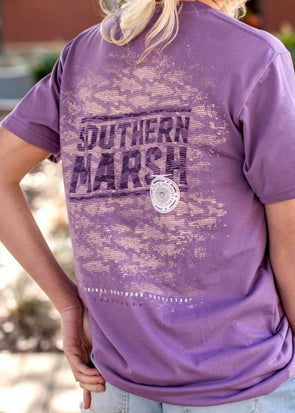 Southern Marsh Branding Collection Tee-Flight School-Purple