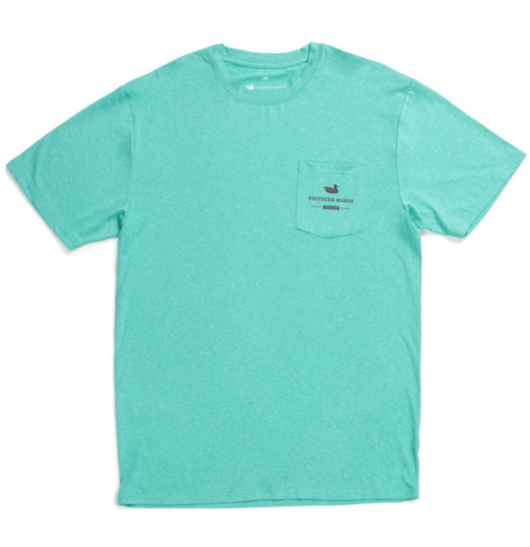 Southern Marsh FieldTec Heather Tee - Marlin Time - Mint