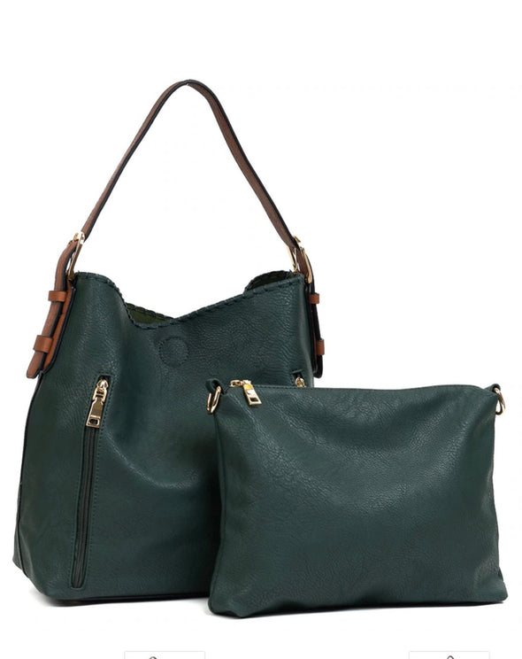Monogrammed Alexa 2-in-1 Hobo Bag - Hunter Green