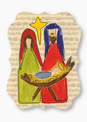 Baxter & Me Door Hanger - Nativity (PICKUP ONLY)