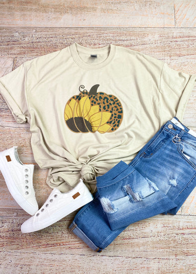 Pumpkin Sunflower Graphic Tee