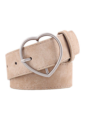 Heart Buckle Belt - Beige - Monograms By Kim Boutique & Gifts