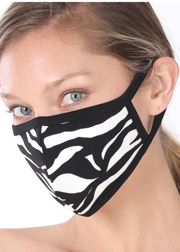 Washable Face Mask - Zebra