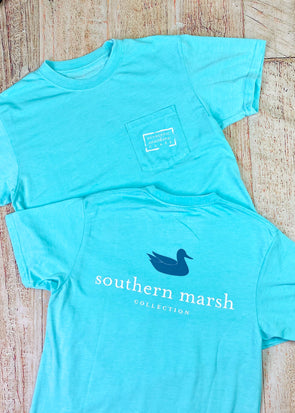 Southern Marsh Seawash Tee - Authentic - Antigua Blue