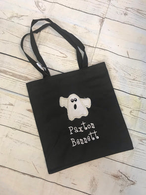 Ghost Trick or Treat Bag - Monograms By Kim Boutique & Gifts