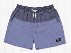 Southern Marsh Seawash Color Block Swim Trunk-Navy/Blue