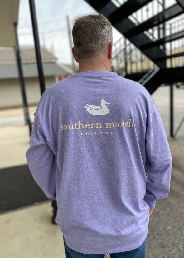 Southern Marsh Authentic Heather LS Tee-Washed Berry