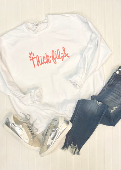 Thick Fil A Graphic Sweatshirt - Monograms By Kim Boutique & Gifts
