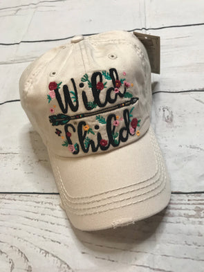 Wild Child Ball Cap - Monograms By Kim Boutique & Gifts