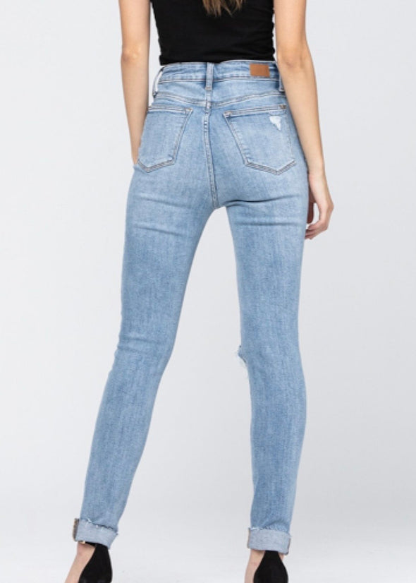 Judy Blue High Waist Skinny Cuffed Jeans