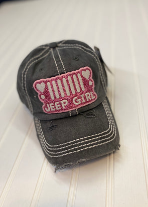 Jeep Hair Pink Glitter Cap - Monograms By Kim Boutique & Gifts