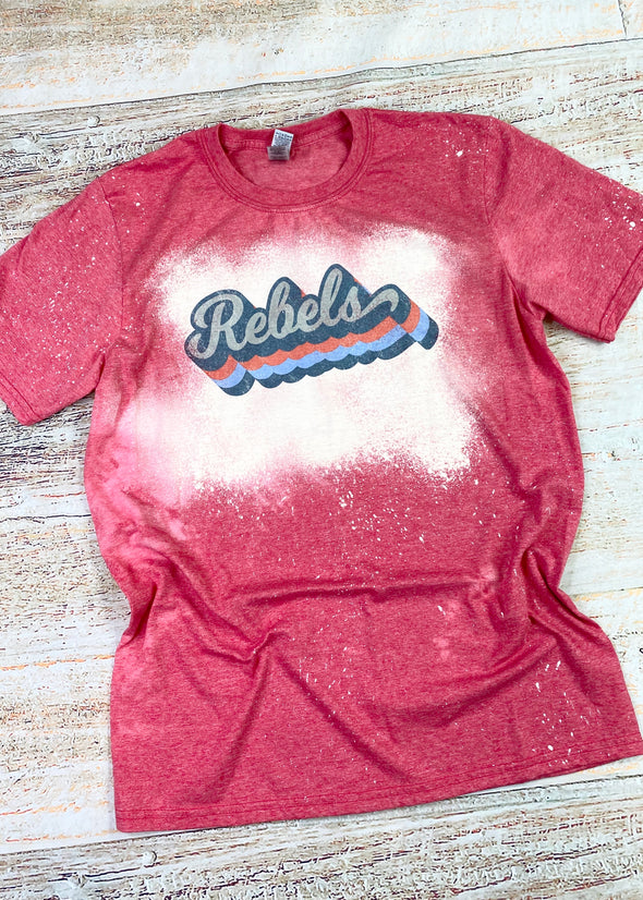Retro Rebels Bleached Graphic Tee