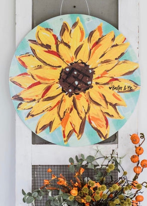 Baxter & Me Door Hanger - Sunflower (PICKUP ONLY)