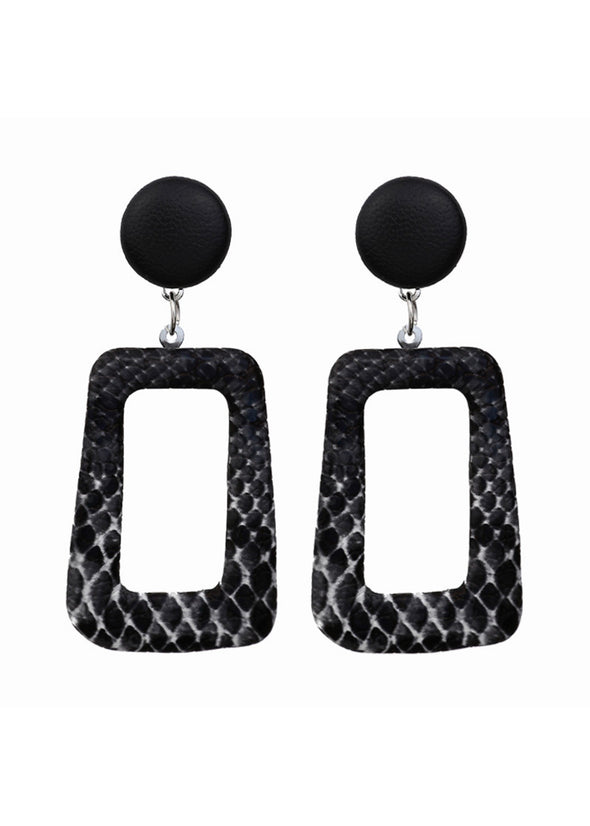 Geo Snake Earrings - Black - Monograms By Kim Boutique & Gifts