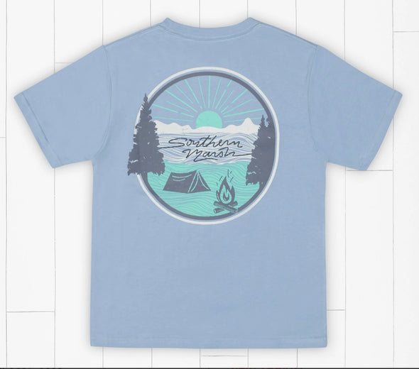 Southern Marsh  YOUTH Summer Camp Sunsets Tee - Light Blue