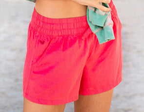 Southern Marsh Rachel Relaxed Shorts-Strawberry Fizz