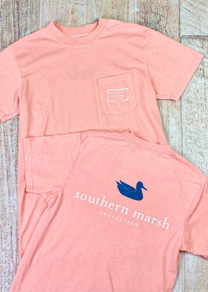 Southern Marsh Seawash Tee - Authentic - Peach