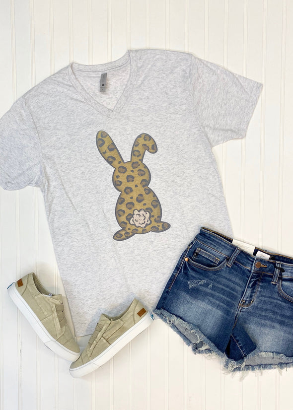 Leopard Bunny Graphic Tee - Monograms By Kim Boutique & Gifts