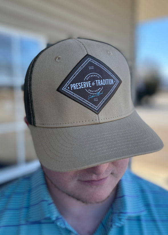 Southern Marsh Trucker Hat - Southern Tradition - Khaki