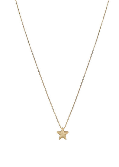 "Gold Star on Gold 16""-18"" Chain"